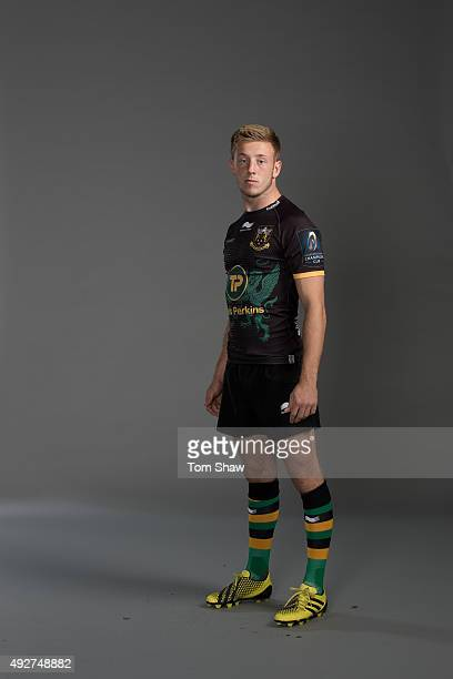 Sam Olver of Northampton poses for a picture during the Northampton Saints Photocall for BT on September 16 2015 in Northampton England