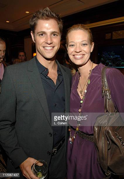 Sam Page and Jeri Ryan during Paradigm and Imagine Television 'Shark' Premiere Party in Beverly Hills California United States