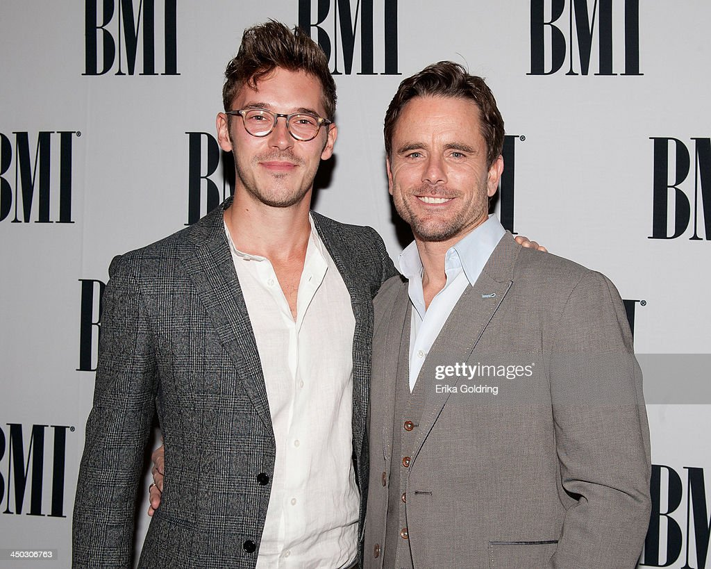 <a gi-track='captionPersonalityLinkClicked' href=/galleries/search?phrase=Sam+Palladio&family=editorial&specificpeople=9149279 ng-click='$event.stopPropagation()'>Sam Palladio</a> and Charles Esten attend the 61st annual BMI Country awards on November 5, 2013 in Nashville, Tennessee.