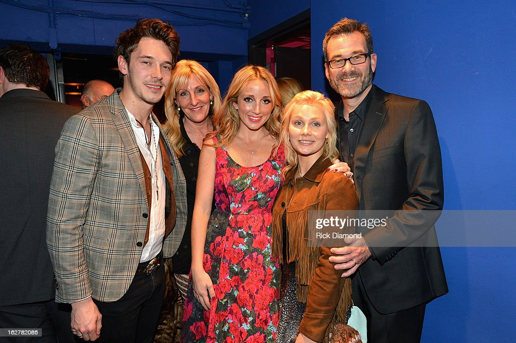 Sam Palladio, Ashley Monroe, Clare Bowen and Steve Buchanan attend the All For the Hall New York concert benefiting the Country Music Hall of Fame at Best Buy Theater on February 26, 2013 in New York City.