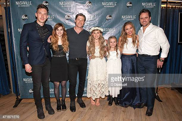 Sam Palladio Aubrey Peeples Chris Carmack Clare Bowen Maisy Stella Lennon Stella and Charles Esten attend the 'Nashville' Tour at The Beacon Theatre...