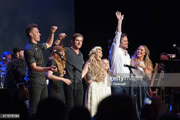 Sam Palladio Aubrey Peeples Chris Carmack Clare Bowen Maisy Stella Charles Esten and Lennon Stella perform onstage during the 'Nashville' Tour at The...