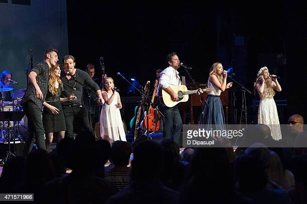 Sam Palladio Aubrey Peeples Chris Carmack Maisy Stella Charles Esten Lennon Stella and Clare Bowen perform onstage during the 'Nashville' Tour at The...