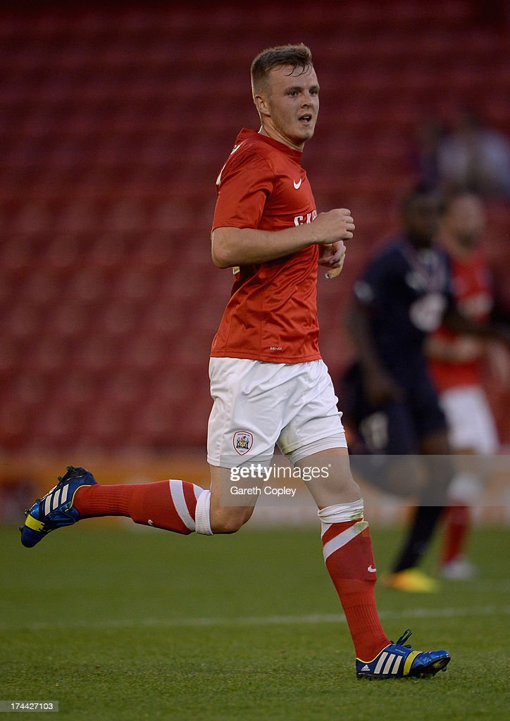 Sam Patterson of Barnsley during a Pre Season Friendly between Barnsley and Bordeaux at Oakwell Stadium on July 25, 2013 in Barnsley, England.