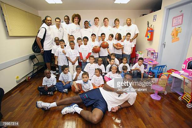 Sam Perkins former NBA playerMarcus Vinicius of the New Orleans Hornets Samuel Dalembert of the Philadelphia 76ers Anderson Varejao of the Cleveland...