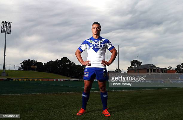 Sam Perrett poses for a photo during a Canterbury Bulldogs NRL media session at Belmore Sports Ground on September 30 2014 in Sydney Australia