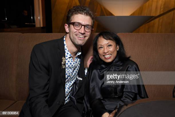 Sam Pinkelton and Baayork Lee attend Designed To Celebrate A Toast To The 2017 Tony Awards Creative Arts Nominees at The Lamb's Club at the Chatwal NY