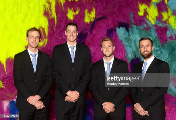 Sam Querrey John Isner Jack Sock and Steve Johnson of the USA pose for a photo before the official dinner at GOMA ahead of the Davis Cup World Group...
