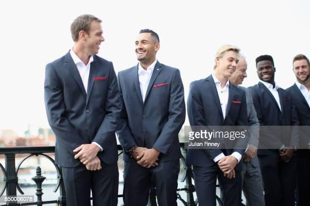 Sam Querrey of United States Nick Kyrgios of Australia Thanasi Kokkinakis of Australia Denis Shapovalov of Canada John McEnroe of United States...