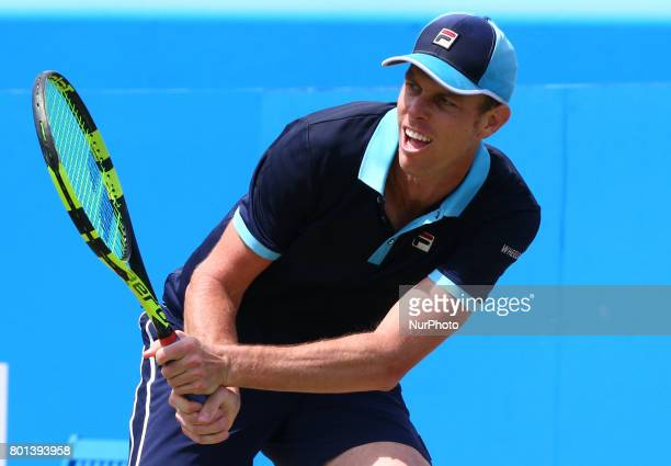 Sam Querrey USA against Gilles Muller LUX during Men's Singles Quarter Final match on the fourth day of the ATP Aegon Championships at the Queen's...