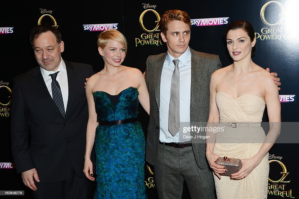 Sam Raimi, Michelle Williams, James Franco and Rachel Weisz attend the European premiere of Oz: The Great And Powerful at The Empire Leicester Square on February 28, 2013 in London, England.