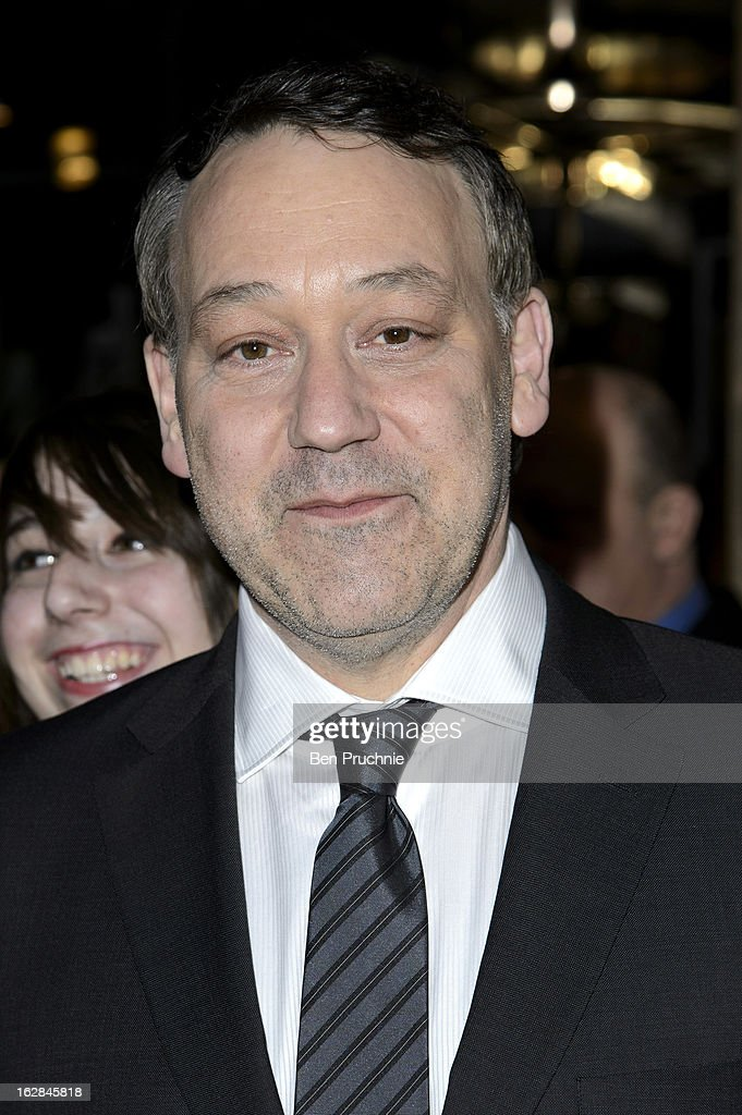 <a gi-track='captionPersonalityLinkClicked' href=/galleries/search?phrase=Sam+Raimi&family=editorial&specificpeople=215417 ng-click='$event.stopPropagation()'>Sam Raimi</a> sighted departing his hotel in London on February 28, 2013 in London, England.