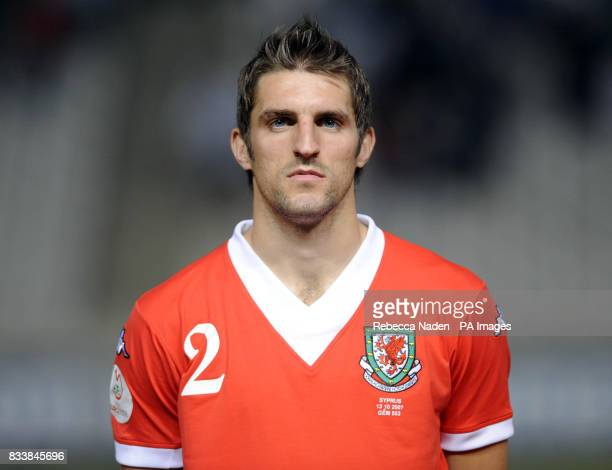 Sam Ricketts from Hull City playing for Wales against Cyprus during the UEFA European Championship Qualifying match at Neo GSP Stadium Nicosia Cyprus...