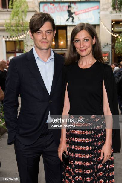 Sam Riley and Alexandra Maria Lara arrive for a reception with creatives at 'Claerchens Ballhaus' the last original dancehall in Berlin on the second...