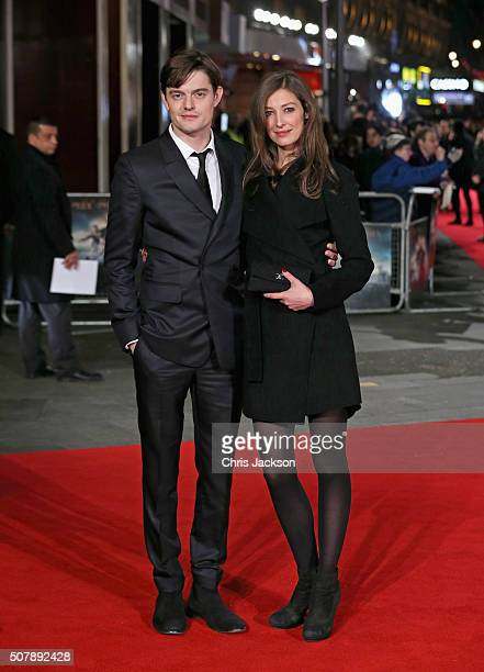 Sam Riley and Alexandra Maria Lara attend the European premiere of 'Pride And Prejudice And Zombies' at Vue West End on February 1 2016 in London...