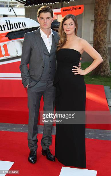Sam Riley and Alexandra Maria Lara attend the World Premiere of 'Rush' at Odeon Leicester Square on September 2 2013 in London England