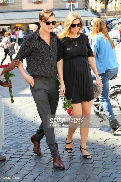 Sam Riley and Alexandra Maria Lara sighting at Piazza Del Popolo on September 14 2013 in Rome Italy