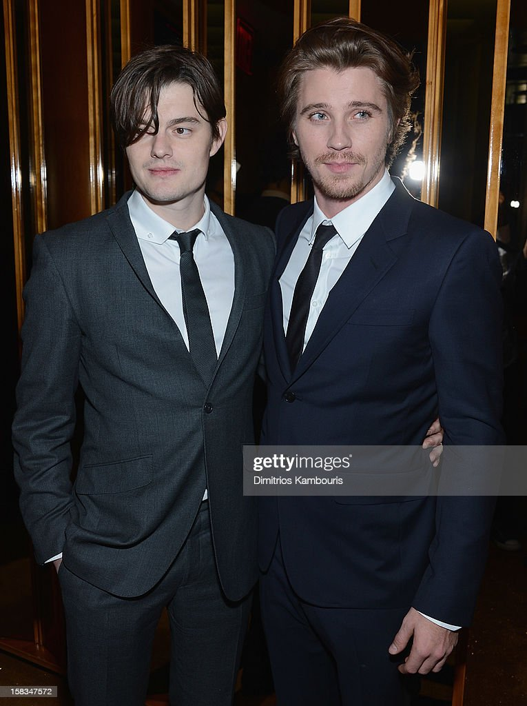 Sam Riley and <a gi-track='captionPersonalityLinkClicked' href=/galleries/search?phrase=Garrett+Hedlund&family=editorial&specificpeople=2290407 ng-click='$event.stopPropagation()'>Garrett Hedlund</a> attend the after party for the 'On the Road' premiere at the Top of The Standard Hotel on December 13, 2012 in New York City.