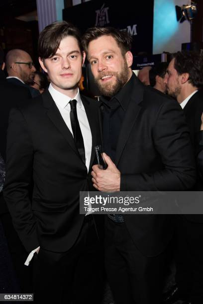 Sam Riley and Ken Duken attend the Medienboard BerlinBrandenburg Reception during the 67th Berlinale International Film Festival Berlin at on...