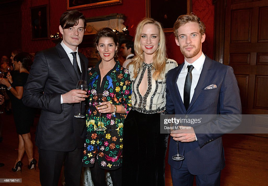 Sam Riley Annabel Riley Ruta Gedmintas and Luke Treadaway attend a private reception as costumes and props from Disney's 'Maleficent' are exhibited...