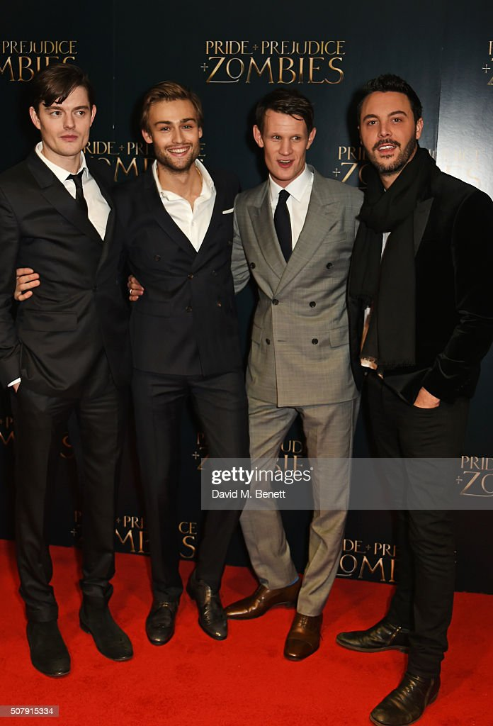 Sam Riley Douglas Booth Matt Smith and Jack Huston attend the European Premiere of 'Pride And Prejudice And Zombies' at the Vue West End on February...