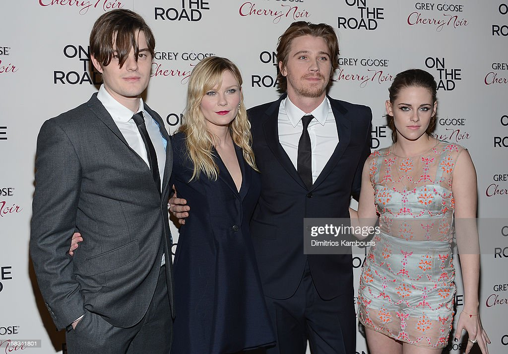 Sam Riley, Kirsten Dunst, Garrett Hedlund and Kristen Stewart attend the 'On The Road' New York Premiere at SVA Theater on December 13, 2012 in New York City.