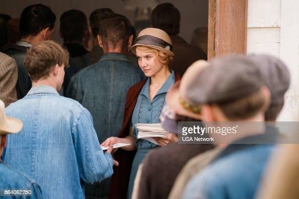 DAMNATION 'Sam Riley's Body' Episode 101 Pictured Sarah Jones as Amelia Davenport