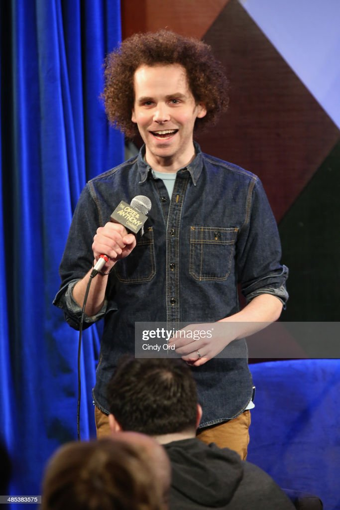 <a gi-track='captionPersonalityLinkClicked' href=/galleries/search?phrase=Sam+Roberts&family=editorial&specificpeople=226848 ng-click='$event.stopPropagation()'>Sam Roberts</a> speaks at SiriusXM's O&A20: Unmasked With Opie & Anthony Special Celebrates 20 Years Of Opie & Anthony at Carolines On Broadway on April 17, 2014 in New York City.