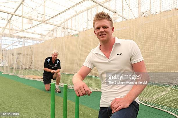 Sam Robson is an Australianborn cricket player and a part of the development side of the English cricket team He is photographed with his dad Jim...