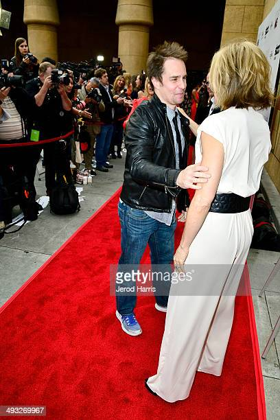 Sam Rockwell and Felicity Huffman arrive at the Los Angeles Premiere of 'Trust Me' at the Egyptian Theatre on May 22 2014 in Hollywood California