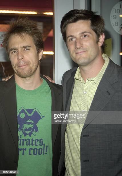 Sam Rockwell and Michael Showalter during 'The Baxter' New York City Premiere Arrivals at The IFC Theater in New York City New York United States