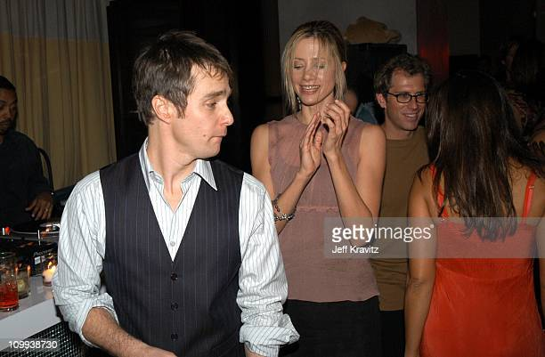 Sam Rockwell and Mira Sorvino during Confessions of a Dangerous Mind After Party at The W Hotel in Westwood CA United States