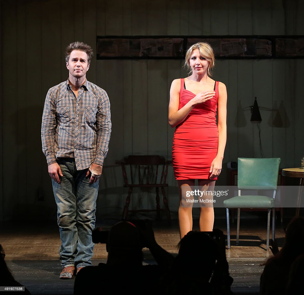 Sam Rockwell and Nina Arianda during the Broadway Opening Night performance Curtain Call for 'Fool For Love' at the Samuel J Friedman Theatre on...