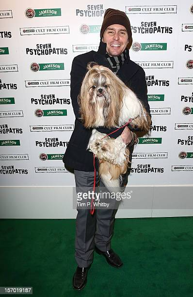 Sam Rockwell arrives at the Jameson Cult Film Club gala premiere of Seven Psychopaths at Oval Space on November 27 2012 in London England Jameson...