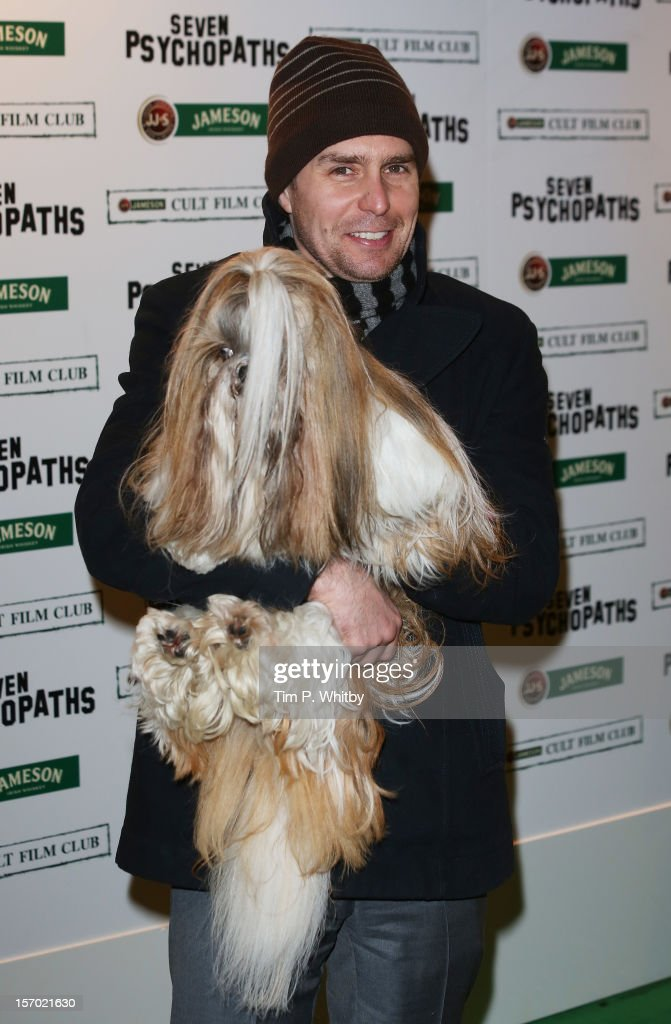 Sam Rockwell arrives at the Jameson Cult Film Club gala premiere of Seven Psychopaths at Oval Space on November 27, 2012 in London, England. Jameson Cult Film Club hosts immersive screenings of cult classics and new release 'Future Cult' films across the UK