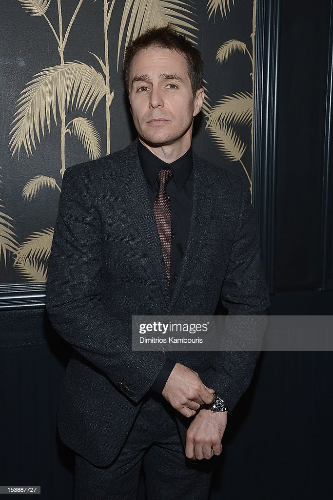 Sam Rockwell attends The Cinema Society with Hugo Boss and Appleton Estate screening of 'Seven Psychopaths' at No. 8 on October 10, 2012 in New York City.