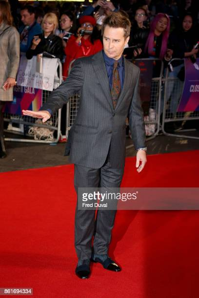 Sam Rockwell attends the UK Premiere of 'Three Billboards Outside Ebbing Missouri' at the closing night gala of the 61st BFI London Film Festival on...