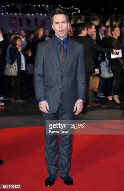 Sam Rockwell attends the UK Premiere of 'Three Billboards Outside Ebbing Missouri' during the closing night gala of the 61st BFI London Film Festival...