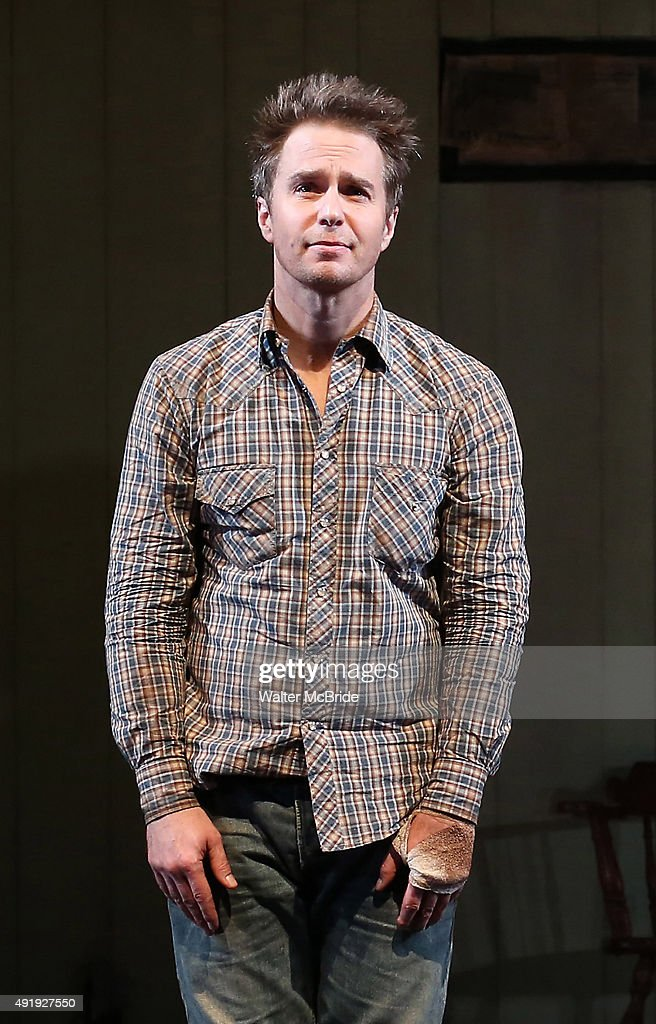 Sam Rockwell during the Broadway Opening Night performance Curtain Call for 'Fool For Love' at the Samuel J Friedman Theatre on October 8 2015 in New...