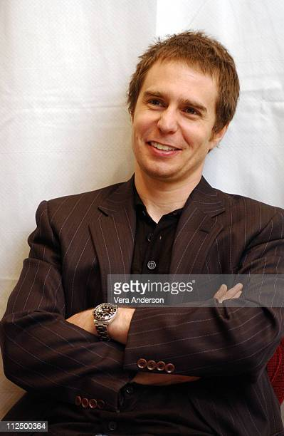 Sam Rockwell during 'The Hitchhiker's Guide to the Galaxy ' Press Conference with Garth Jennings Sam Rockwell Martin Freeman and Zoey Deschanel at...