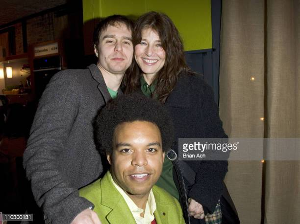 Sam Rockwell Eric Lewis and Katherine Keenar during 2007 Park City Bon Appetit Supper Club Hosts Dinner for 'Joshua' at The Claim Jumper in Park City...