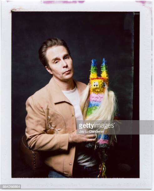 Sam Rockwell from the films 'Woman Walks Ahead' and 'Three Billboards Outside Ebbing Missouri' is photographed on polaroid film at the LA Times HQ at...