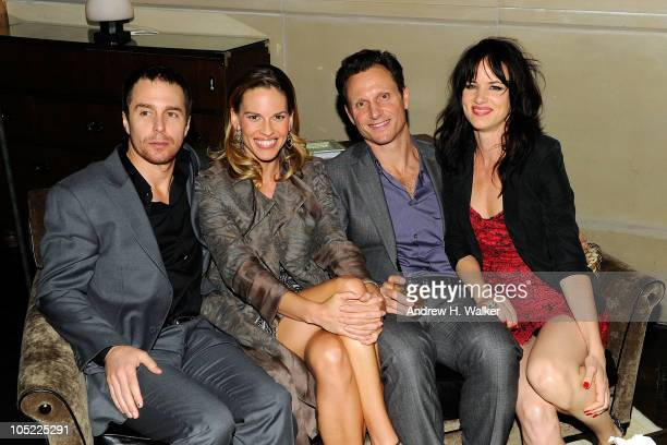 Sam Rockwell Hilary Swank Tony Goldwyn and Juliette Lewis the after party for the Cinema Society screening of 'Conviction' at the Soho Grand Hotel on...