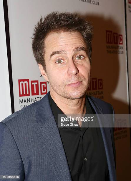 Sam Rockwell poses at The Opening Night for the MTC production of Sam Shepard's 'Fool For Love' on Broadway at Urbo NYC on October 8 2015 in New York...