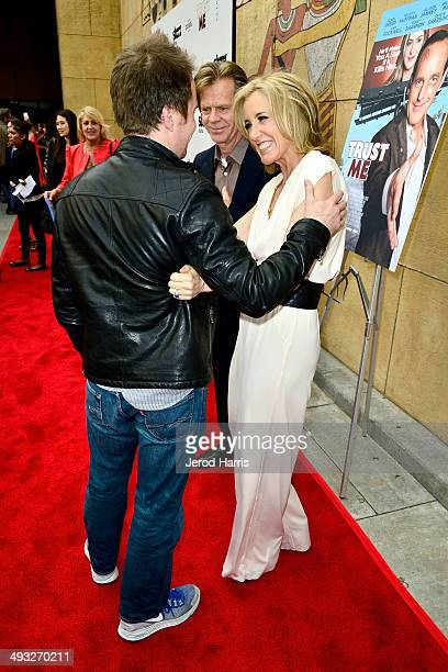 Sam Rockwell William H Macy and Felicity Huffman arrive at the Los Angeles Premiere of 'Trust Me' at the Egyptian Theatre on May 22 2014 in Hollywood...