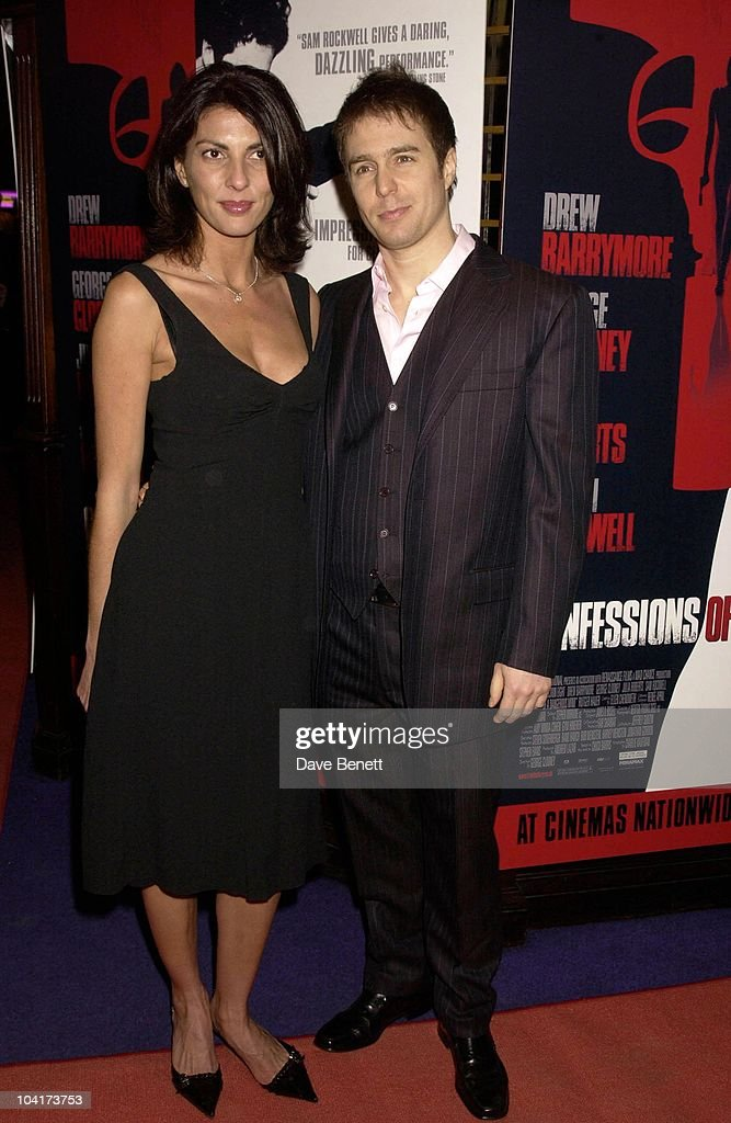 Sam Rockwell With His New Girlfriend Gina Bellman, Confessions Of A Dangerous Mind The Movie That Marks The Directorial Debut.premiered In London Last Night.and The Party Was At Elyceum At The Cafe Royal
