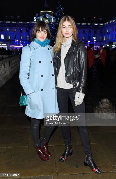 Sam Rollinson and Eve Delf attend the opening party of Skate at Somerset House with Fortnum Mason on November 14 2017 in London England London's...