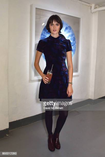 Sam Rollinson attends a private view of artist Chemical X's new exhibition 'CX300' at The Vinyl Factory on September 28 2017 in London England