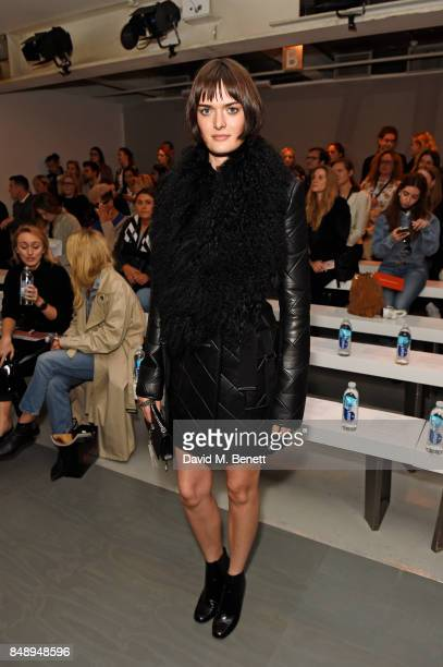 Sam Rollinson attends the David Koma SS18 catwalk show during London Fashion Week September 2017 at The National Theatre on September 18 2017 in...