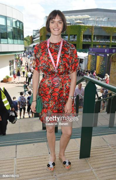 Sam Rollinson attends the evian Live Young suite during Wimbledon 2017 at the All England Tennis and Croquet Club on July 3 2017 in London England